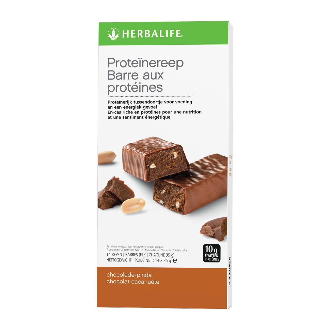 Barres aux Protéines Encas minceur Chocolat Cacahuète 14 barres de 35g
